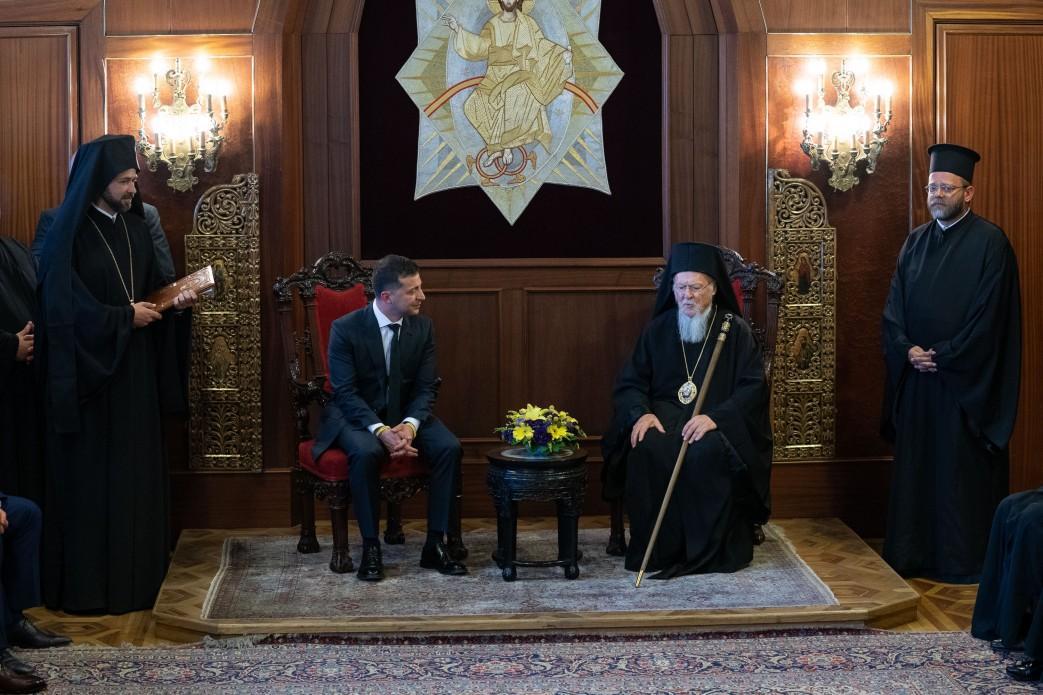 Зеленский провел встречу с Варфоломеем i / фото: president.gov.ua