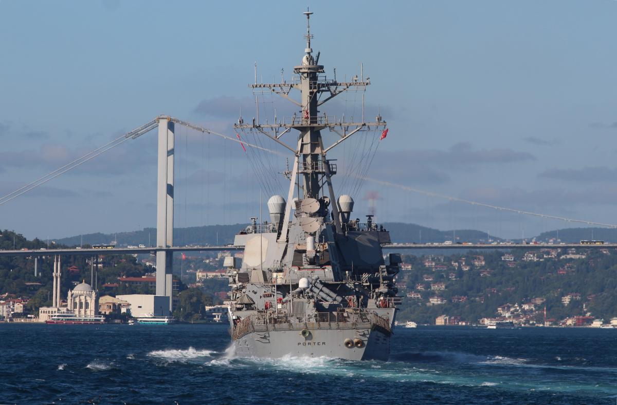 USS Porter снова наведался в Черное море / Иллюстрация REUTERS