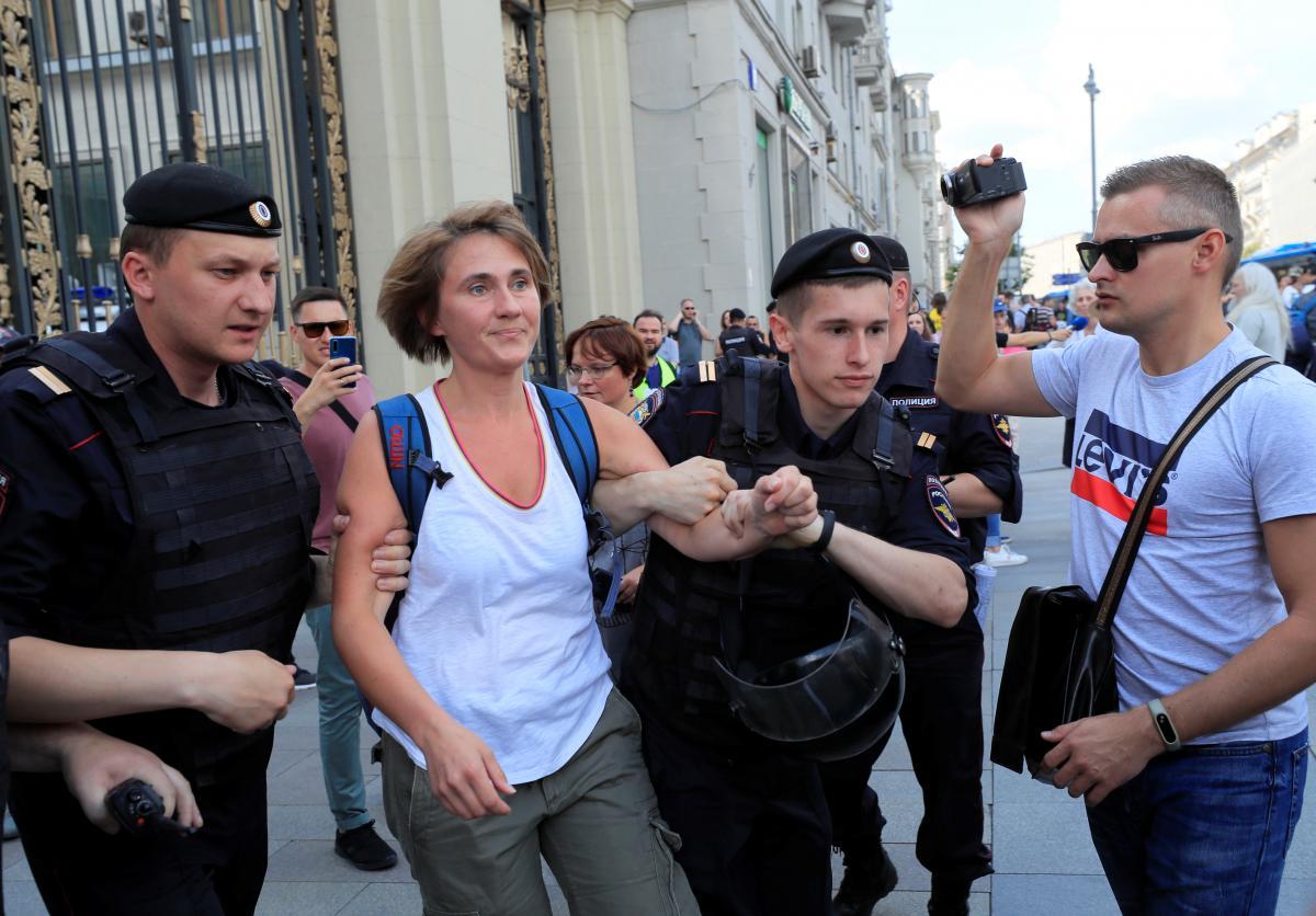 Задержание Марии Цветковой / REUTERS