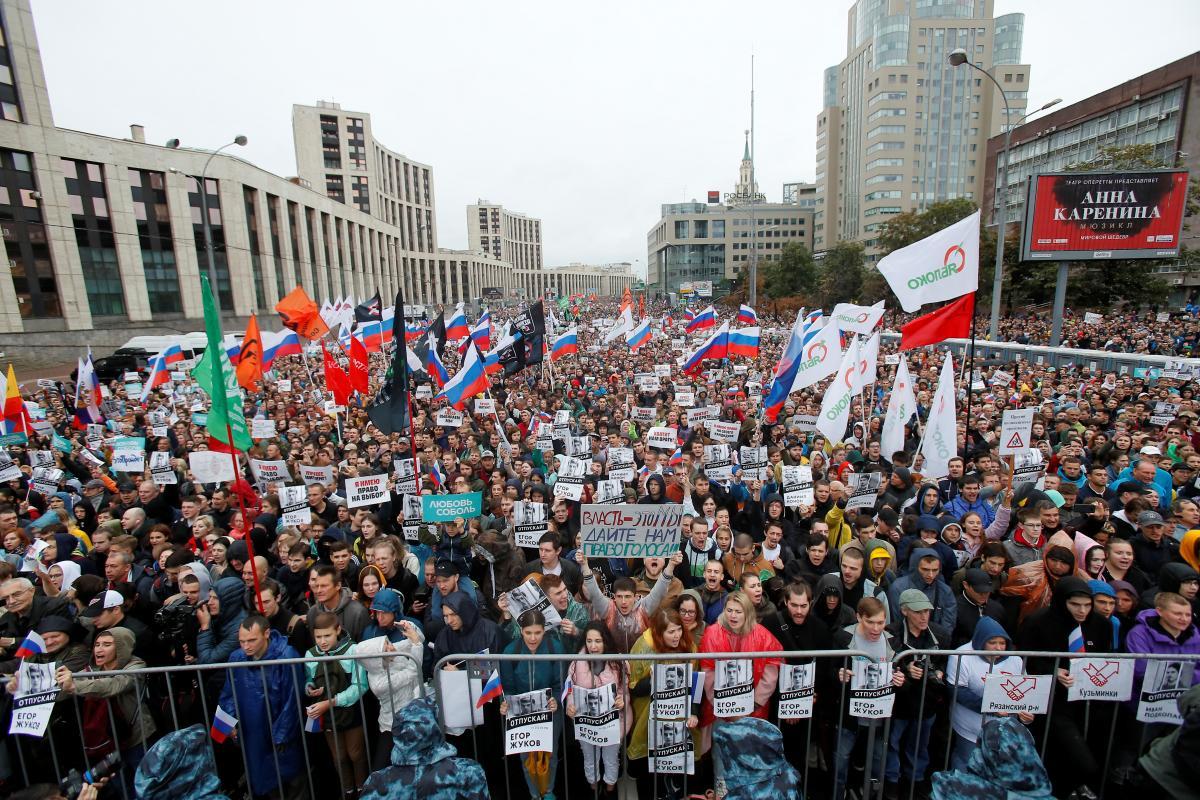 Митинг в Москве 10 августа / REUTERS