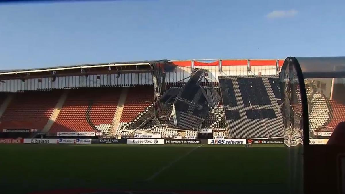 Стадион в Алкмааре был открыт в 2006 году/ скриншот