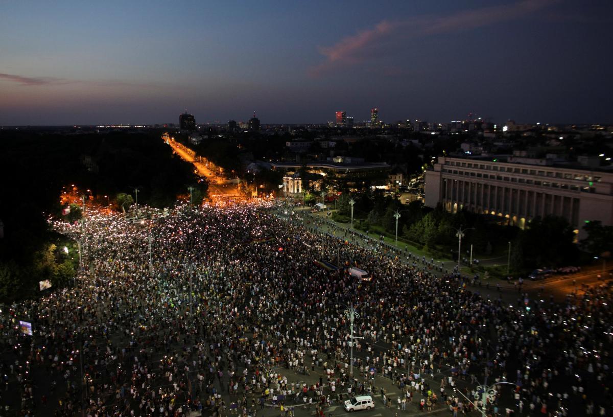 В Румынии состоялась масштабная антиправительственная акция протеста / REUTERS