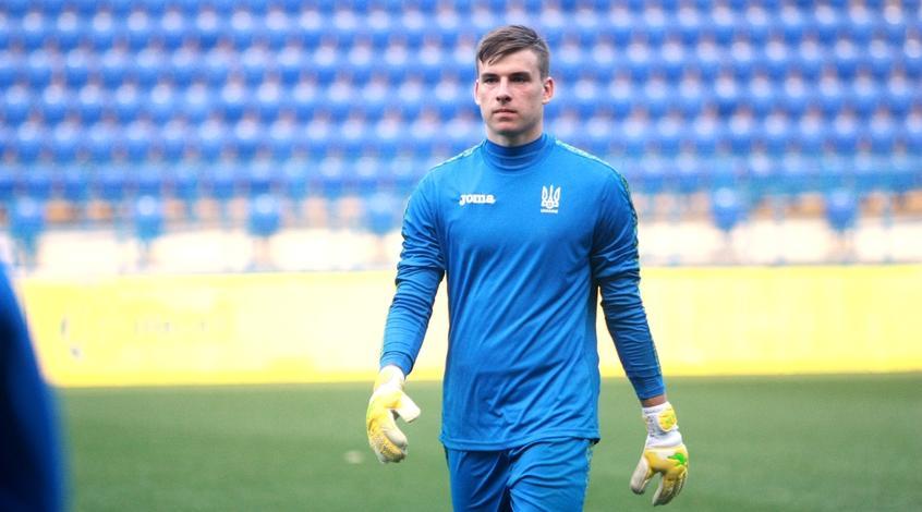 Андрей Лунин провел 6 матчей в составе сборной Украины / фото: УАФ