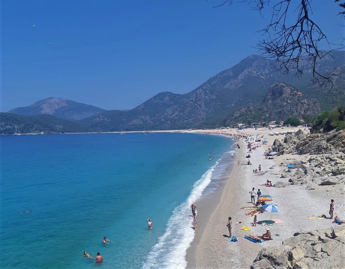 Пляж Бельджекіз один з найпопулярніших в Олюденізі / Фото Юлія Корнійчук