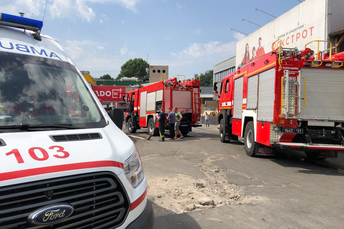 В Киеве горел торговый центр / Информатор