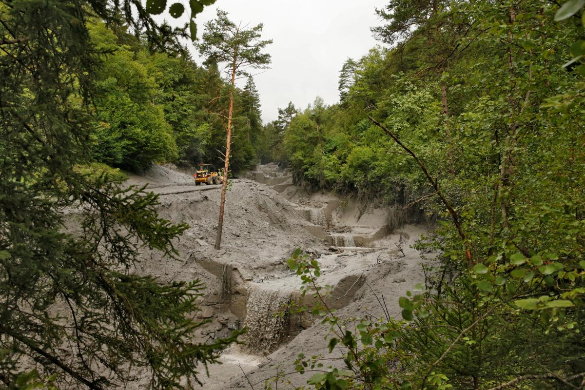 Наслідки паводку в Швейцарії / REUTERS