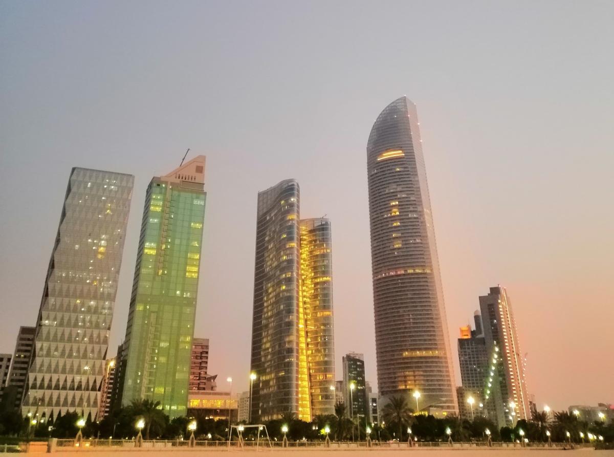 Абу-Даби - один из самых быстро развивающихся городов мира / Фото Нина Жильцова