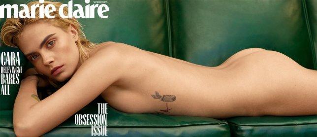 На ее теле можно разглядеть несколько татуировок / фото: Thomas Whiteside