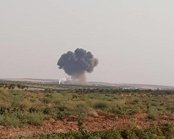 У Сирії збили літак армії Асада / фото twitter.com/QalaatAlMudiq