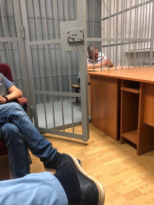 Юрий Грымчак на допросе в ГПУ / фото 24tv.ua