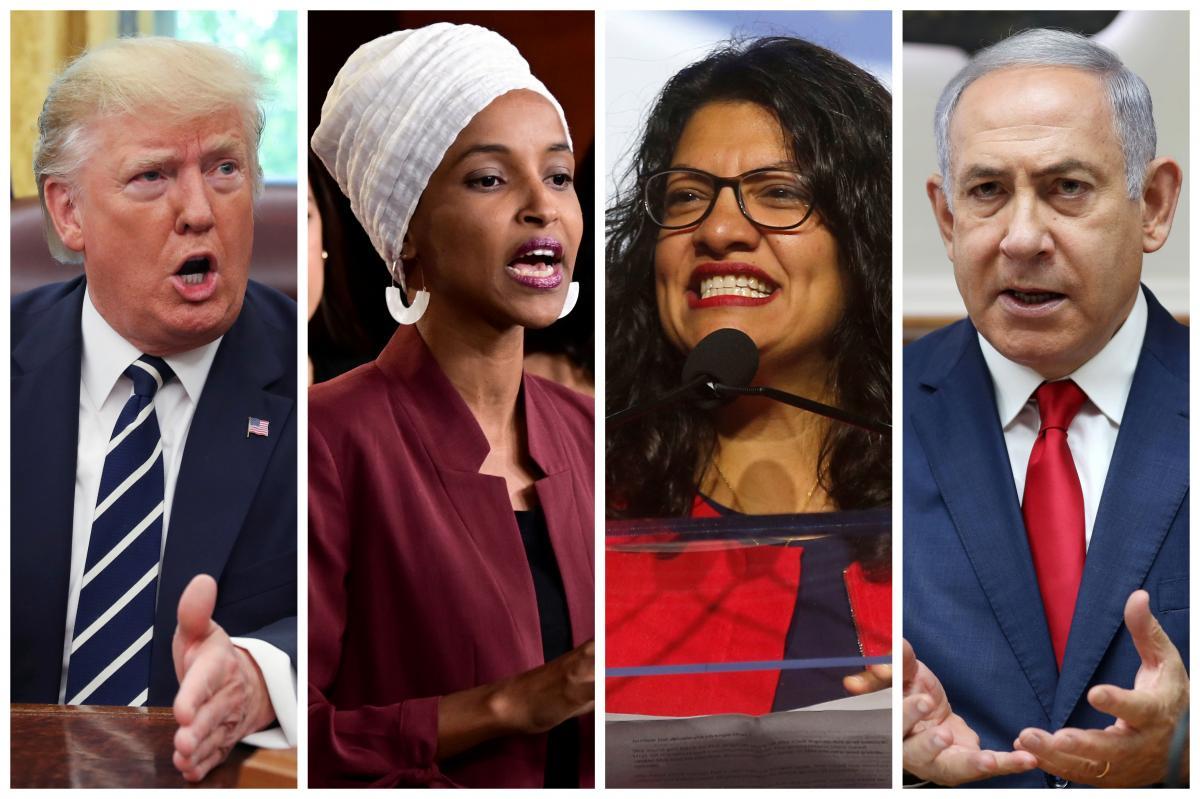 Дональд Трамп, Ільхан Омар, Рашида Тлаіб, Біньямін Нетаньяху / REUTERS