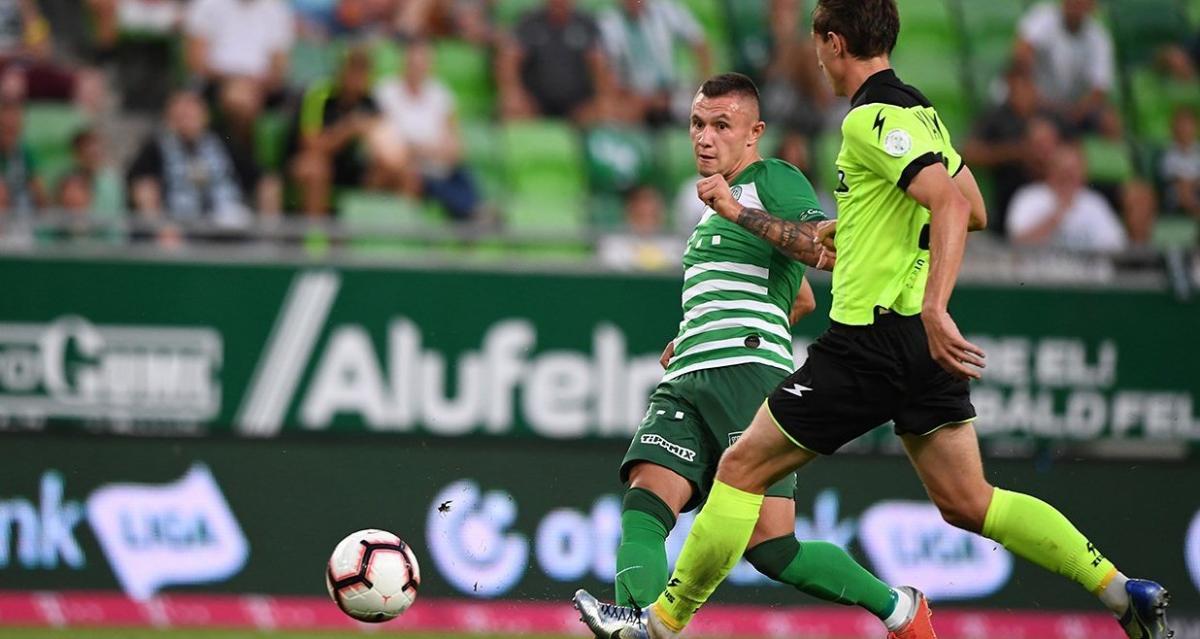 Олександр Зубков забив єдиний гол у матчі / фото: fradi.hu