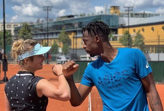 Элина Свитолина и Гаэль Монфис тренируются вместе / фото: instagram.com/g.e.m.s.life