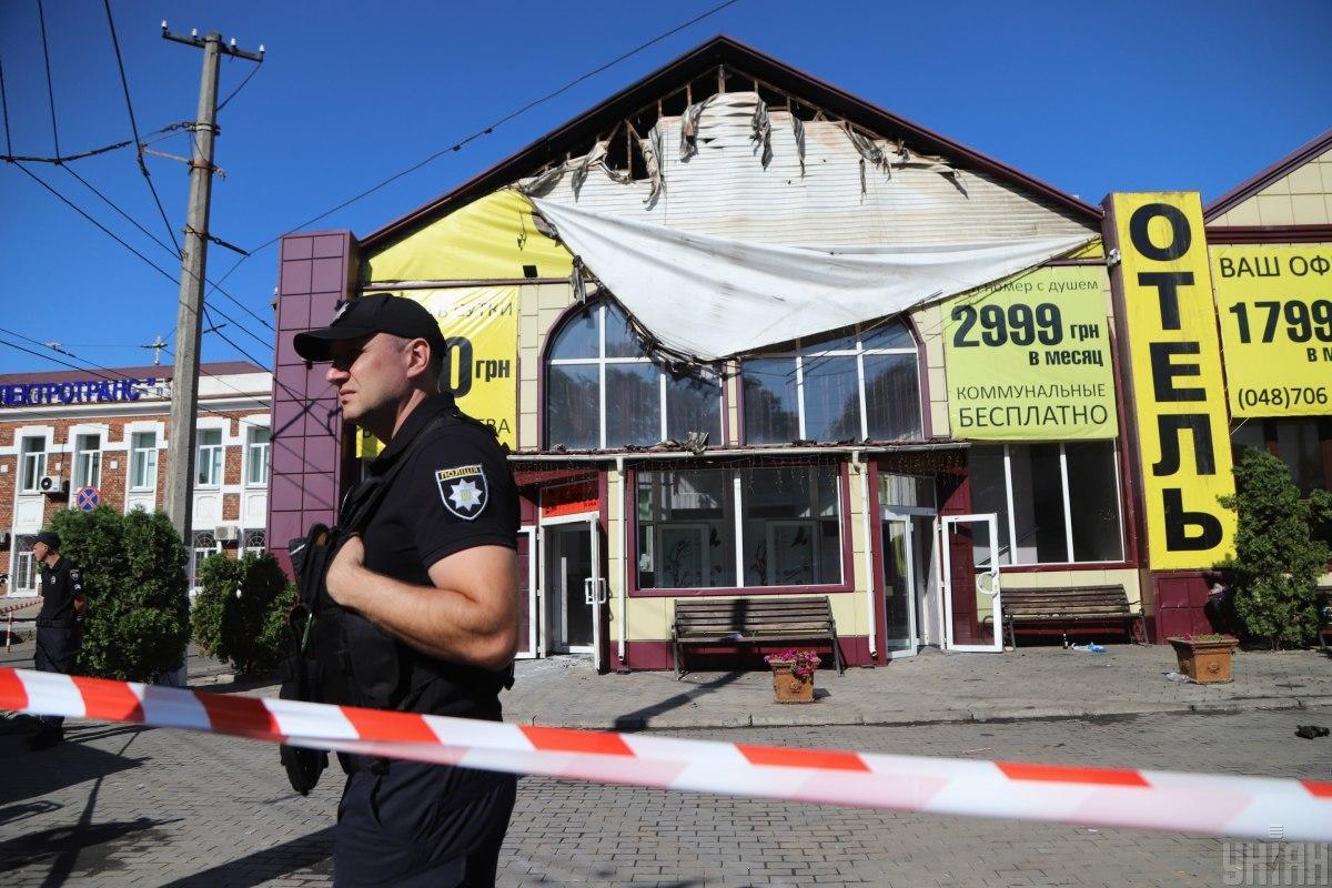 Отель сгорел в прошлом году / Фото УНИАН