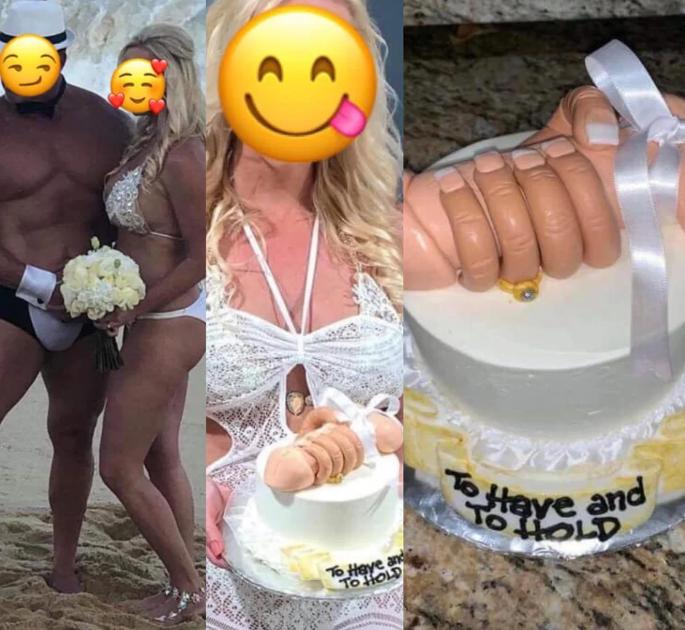 Свадебный торт пары вызвал недоумение в сети / reddit.com
