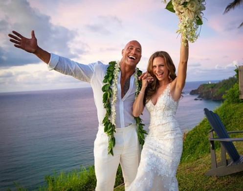 """Дуейн """"Скеля"""" Джонсон одружився 2 дні назад"""