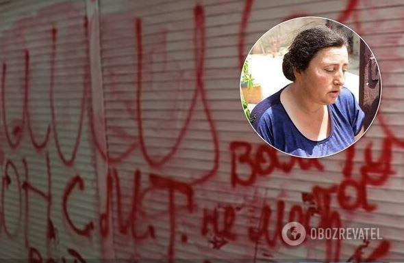 Люди написали оскорбления на ларьке Тарасовых на рынке / Обозреватель