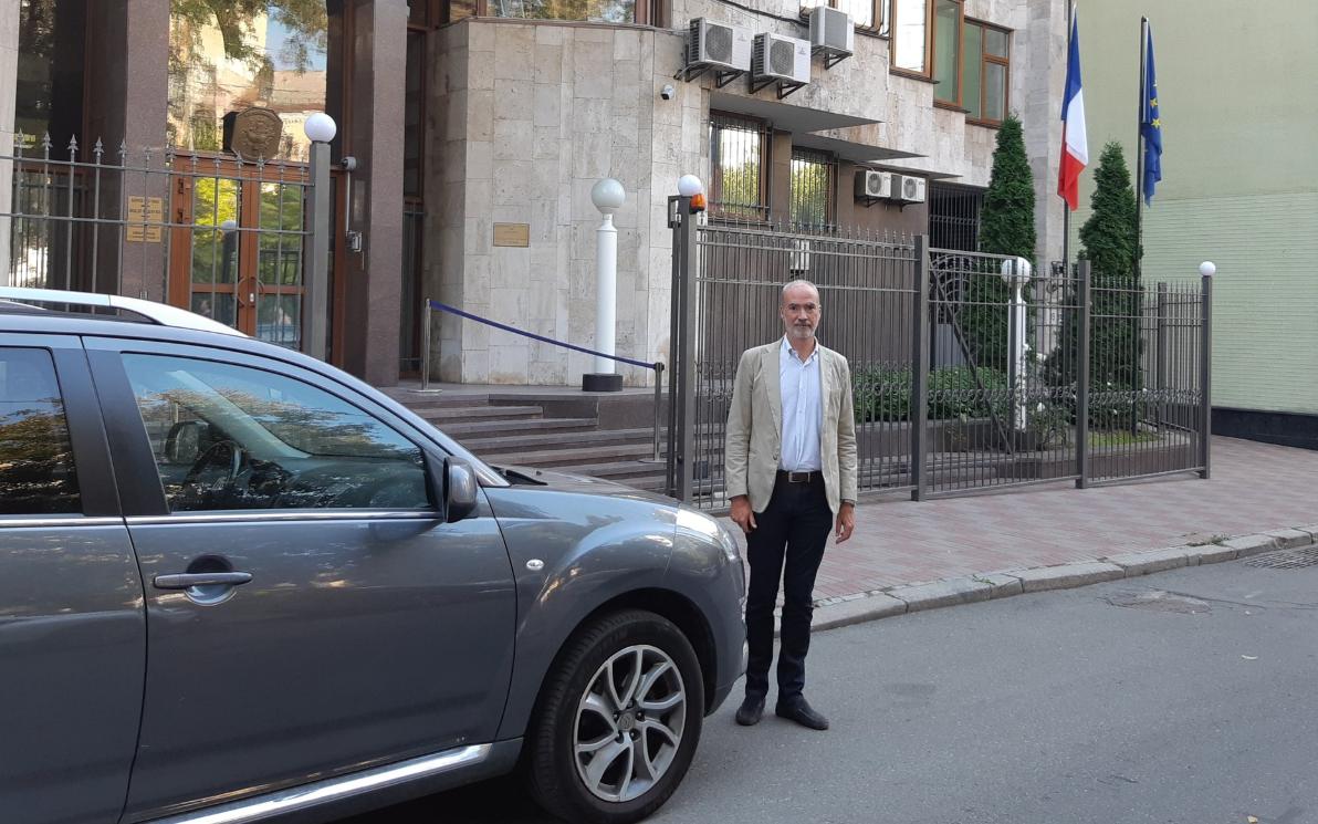 Этьен де Понсен прибыл в Украину / Twitter, Etienne de Poncins