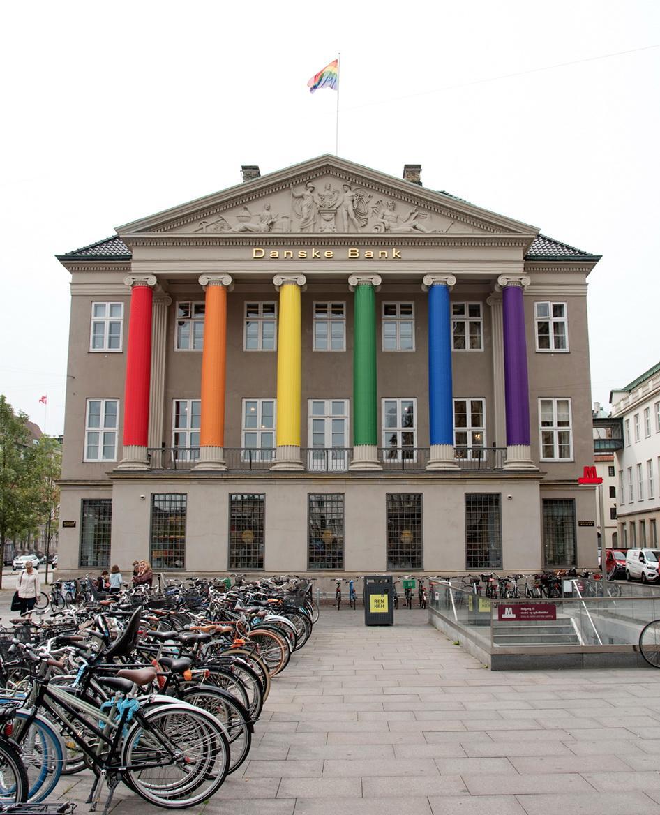 На кілька днів Копенгаген перетворився на суцільну веселку / Фото Андрій Вацик