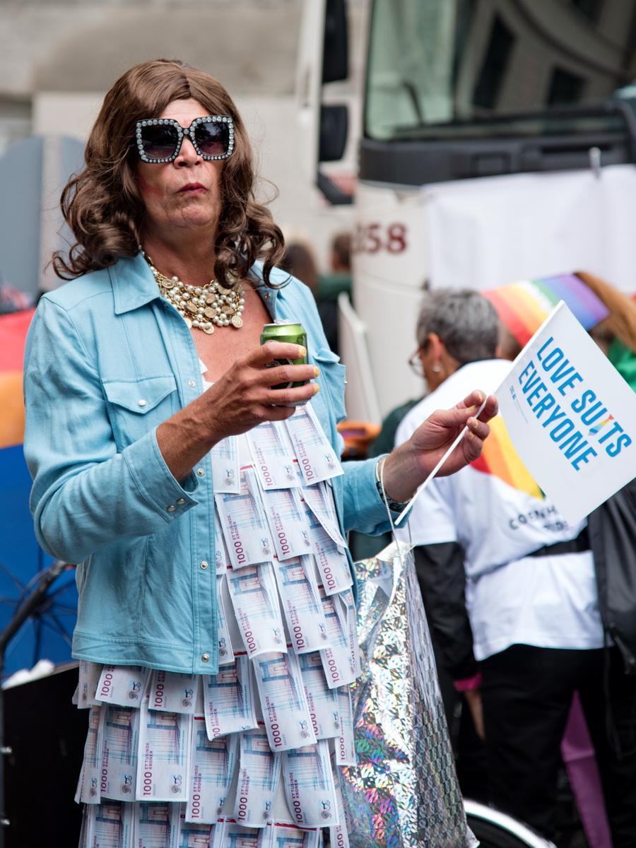 Учасник прайд-параду в Копенгагені / Фото Андрій Вацик