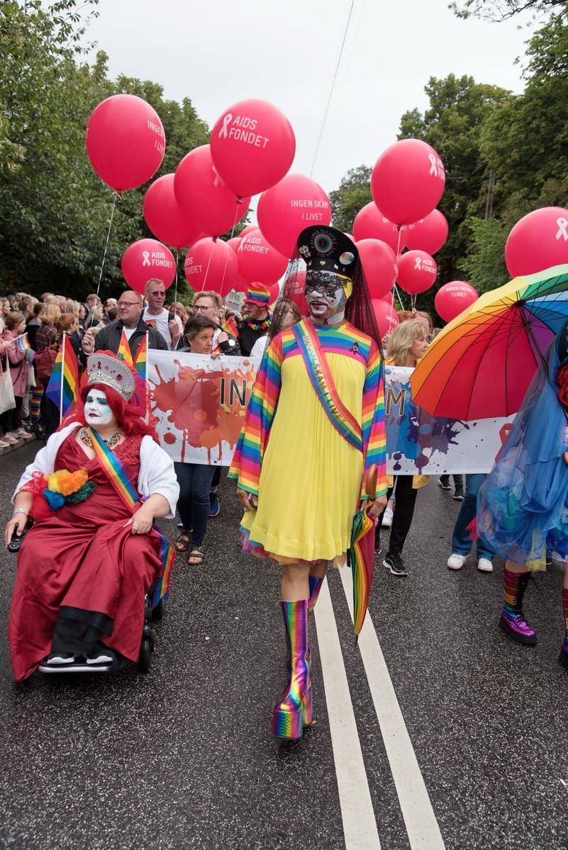Колоритні учасники прайд-параду в Копенгагені / Фото Андрій Вацик