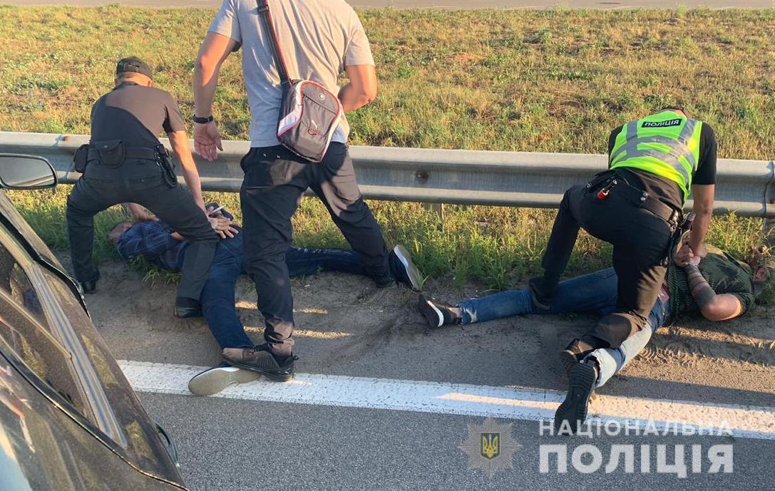 Граждане Грузии были задержаны в Борисполе Киевской области/ фото: полиция Киевской области