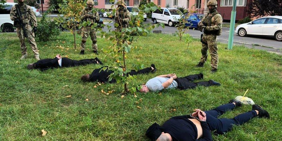 Полиция одновременно задержала бандитов в Киеве, Виннице и Черкасской области / фото НПУ