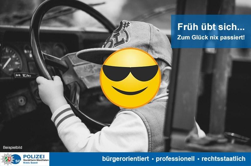 Хлопець поцупив Volkswagen Golf з автоматичною коробкою передач / фото Polizei NRW Soest