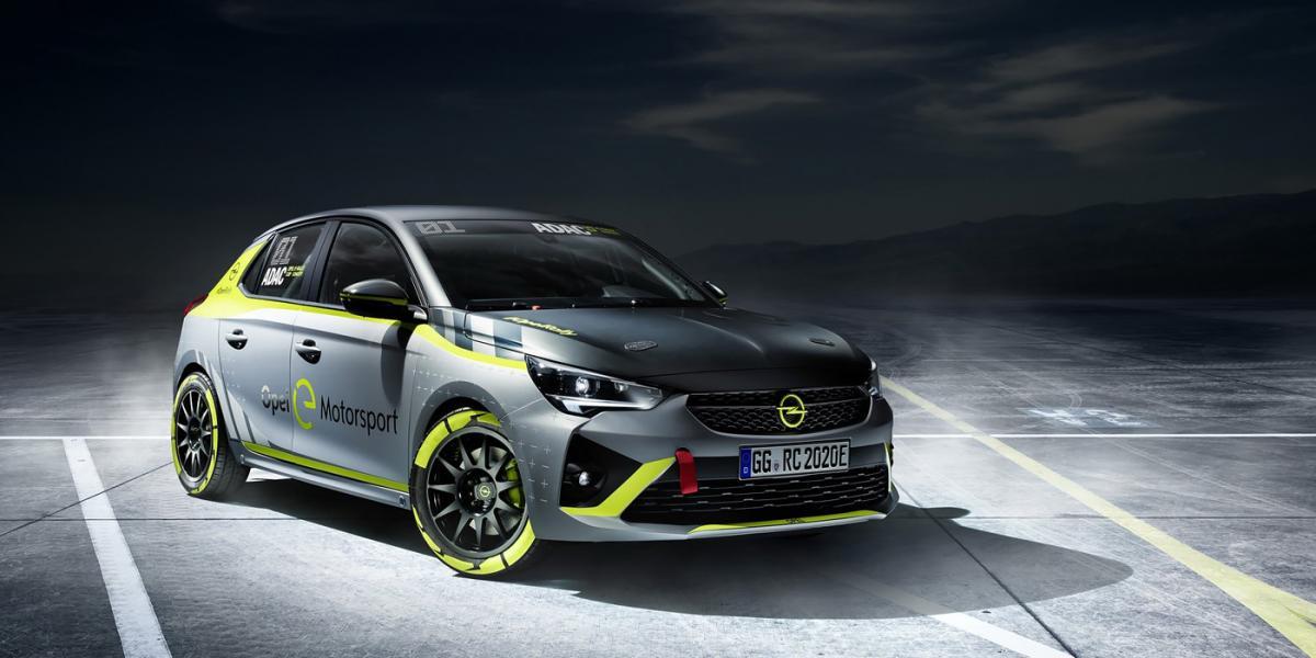 Гоночный Opel e-Corsa примет участие в монокубке ADAC Opel Rally Cup / фото Opel