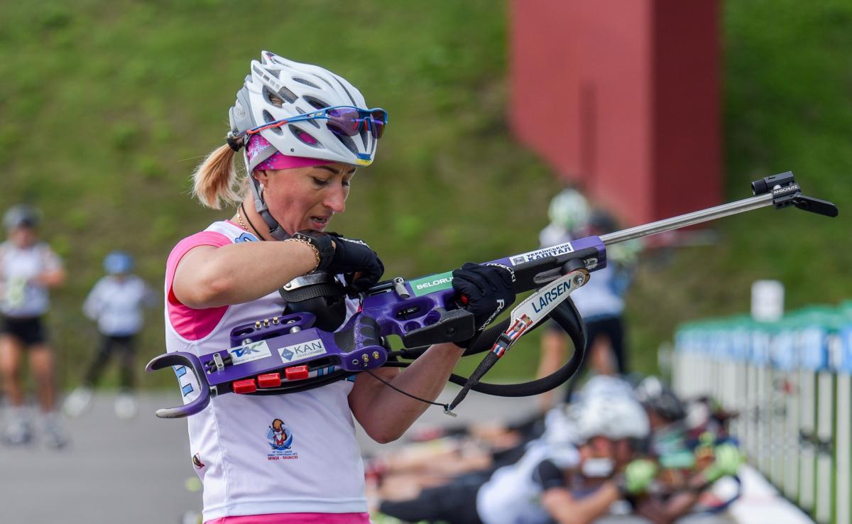 Валентина Семеренко закрила всі мішені / фото: biathlon.com.ua