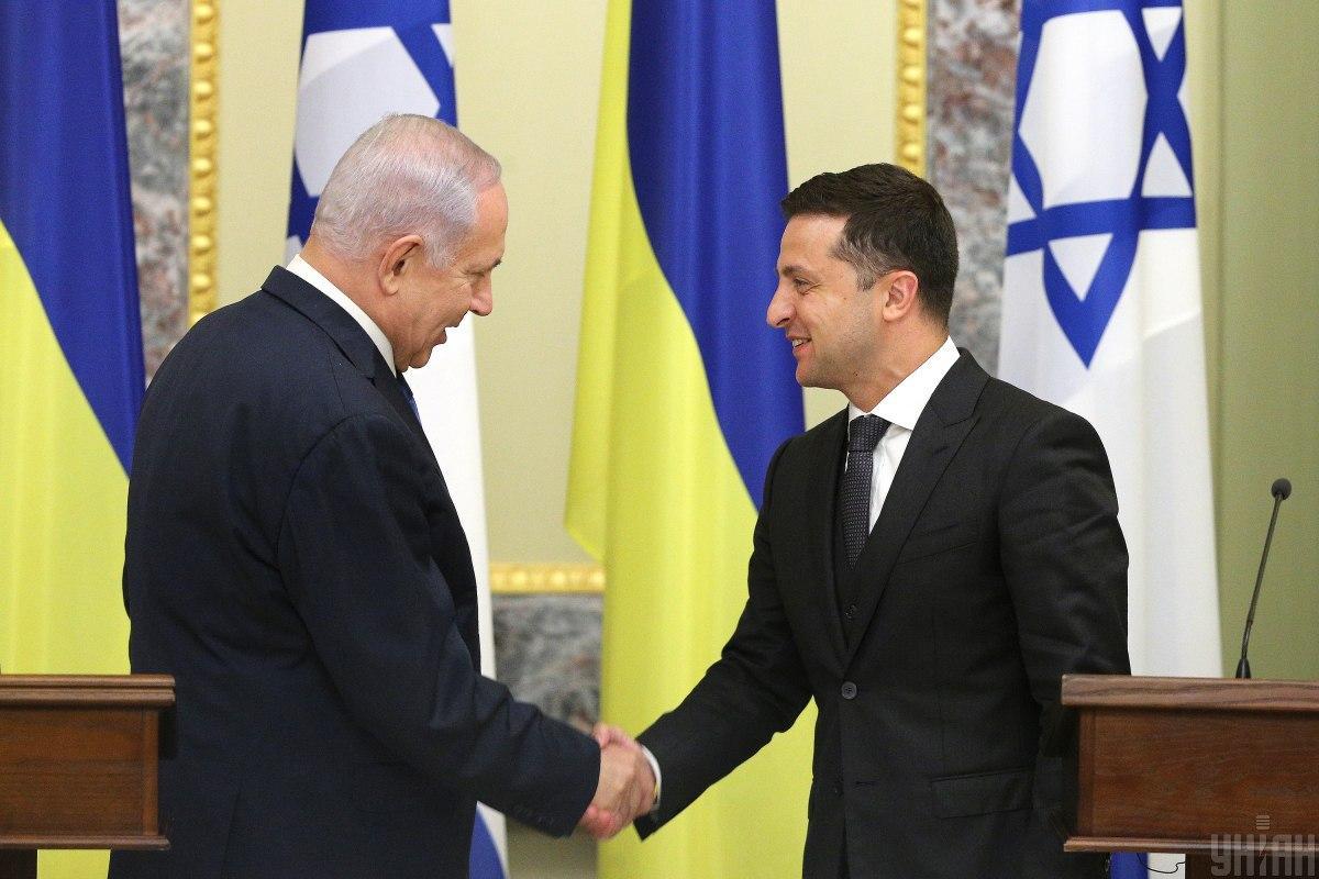Владимир Зеленский встречался с премьер-министром Израиля Биньямином Нетаньяху / фото УНИАН