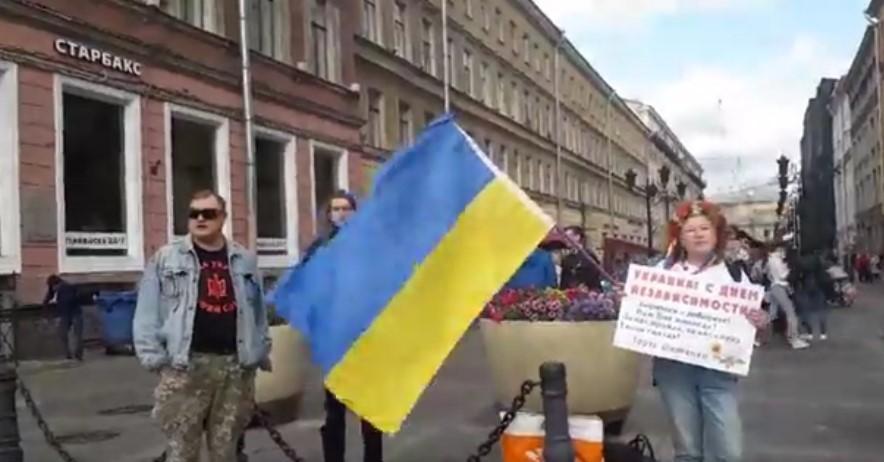 В Петербурге активисты провели серию пикетов / скриншот