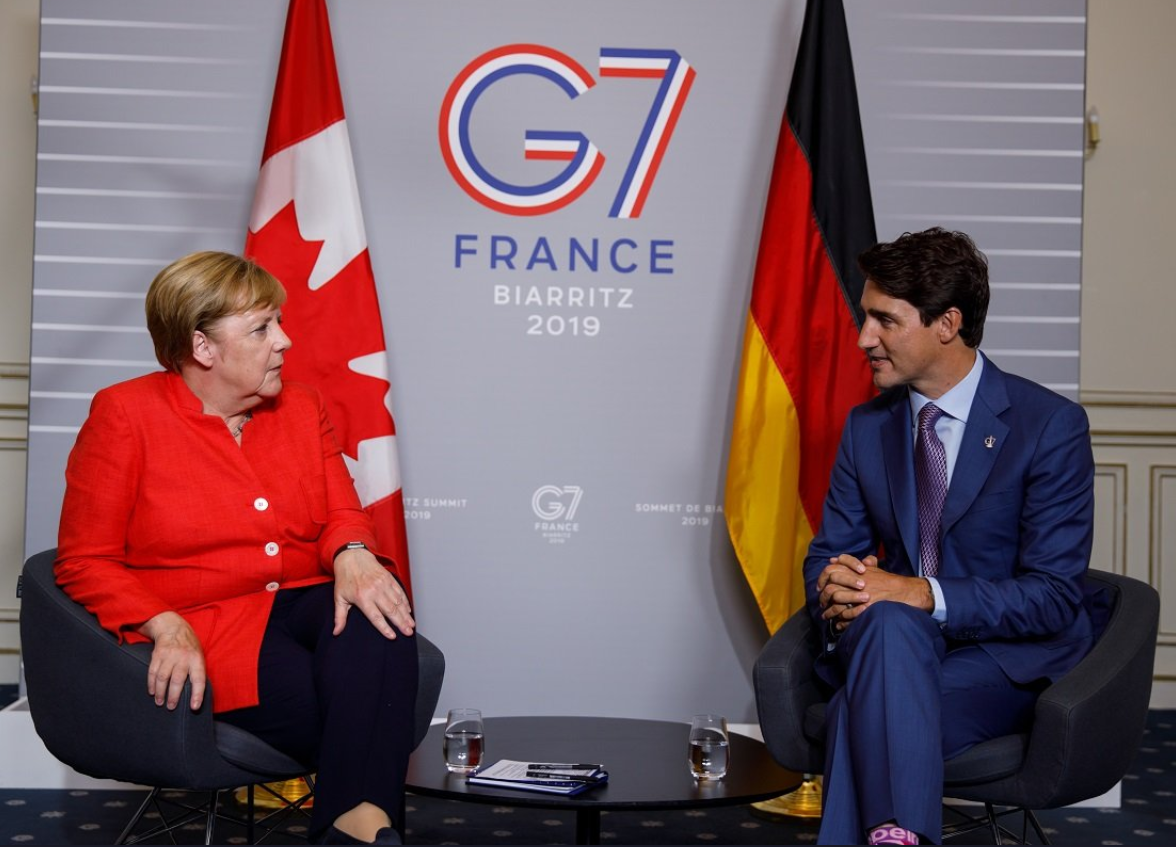 Меркель и Трюдо встретились на саммите G7 / Twitter, CanadianPM