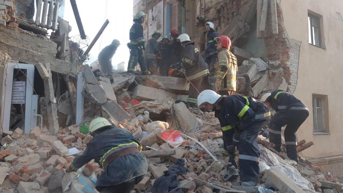 Взрыв газа разрушил дом в Дрогобыче / фото: ГСЧС