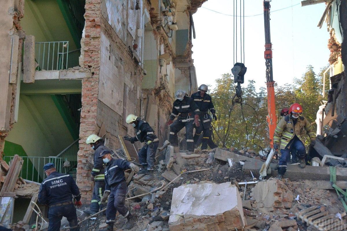 Роботи з розбору завалівбудівельних конструкцій завершили29 серпня о 18:00/фото ДСНС