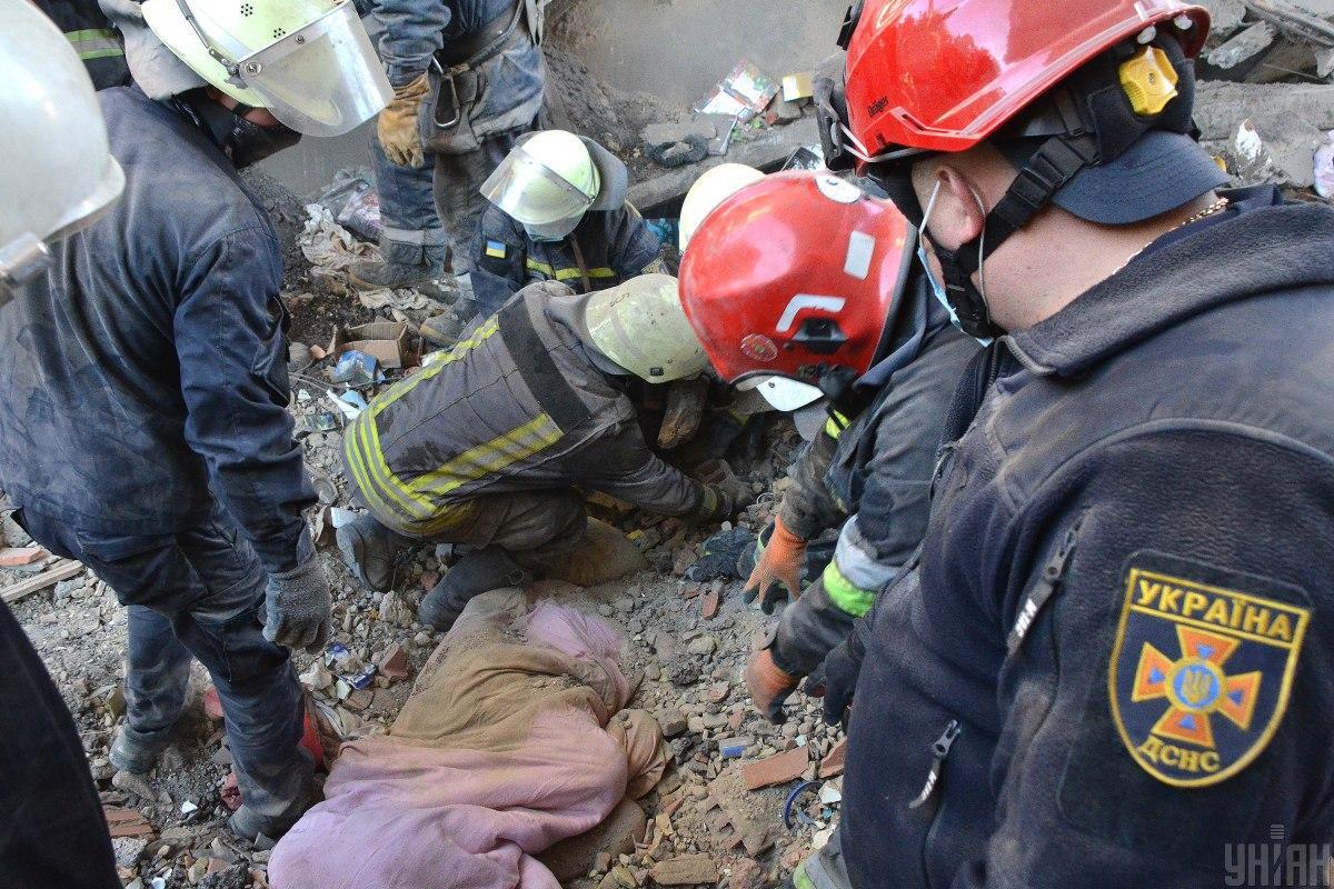 Всех жителей пострадавшего дома эвакуировали/ Фото ГСЧС