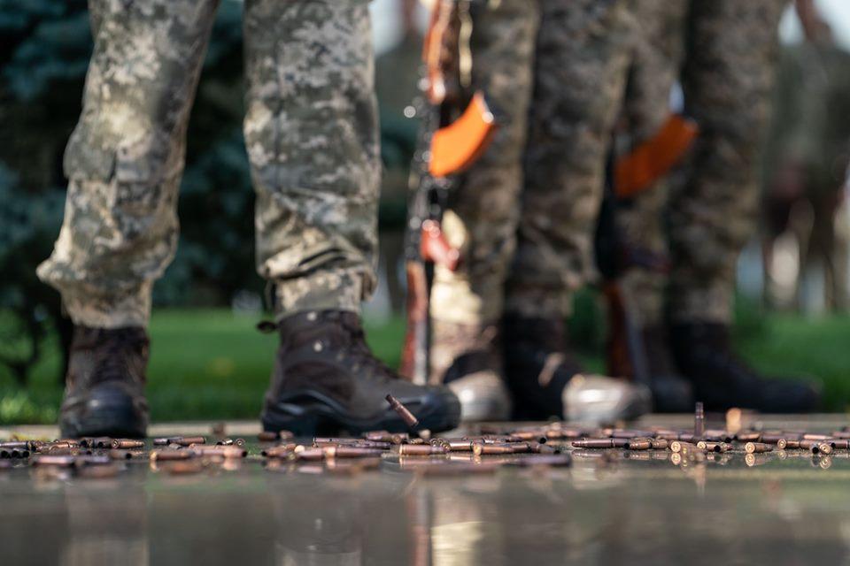 Наші захисники відкривали вогонь у відповідь / фото president.gov.ua