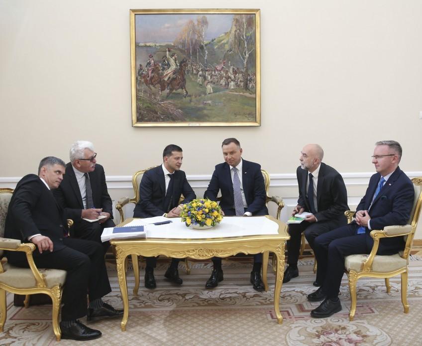 Зеленский начал визит в Польшу со встречи с Дудой / фото facebook.com/pg/president.gov.ua