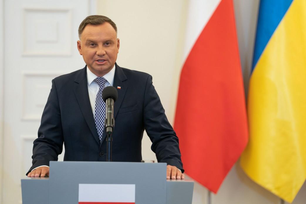 Дуда написал пост в ноябре прошлого года / фото president.gov.ua