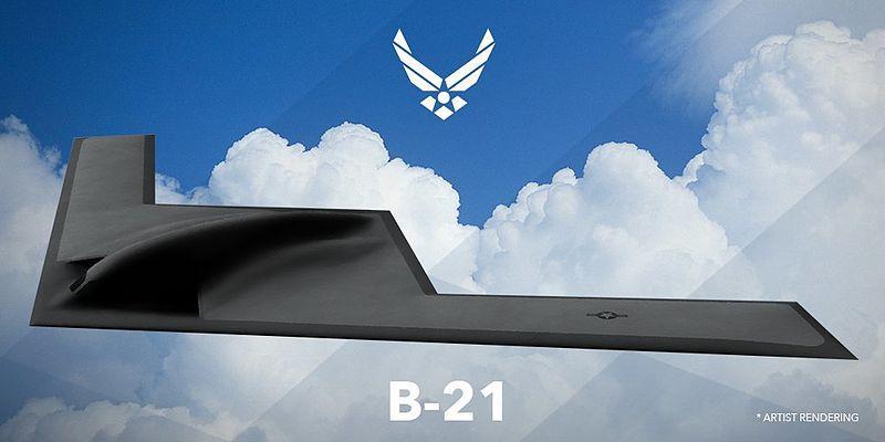 Самолет B-21 - стратегический бомбардировщик нового поколения для ВВС США/ фото: wikipedia