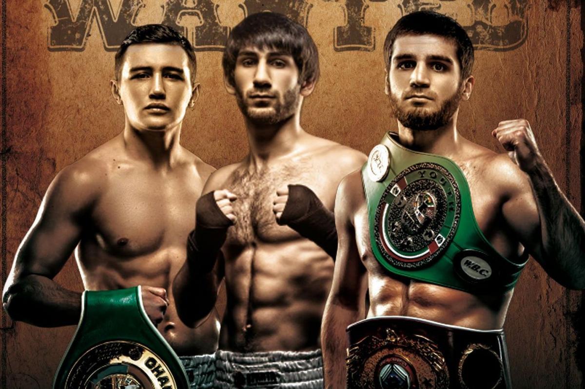 Андрей Великовский, Арам Фаниян и Карен Чухаджян/ фото: Sparta Boxing Promotions