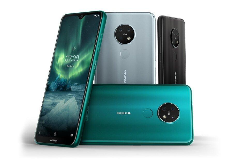 Внешне Nokia 6.2 и Nokia 7.2 полностью идентичны / фото Nokia