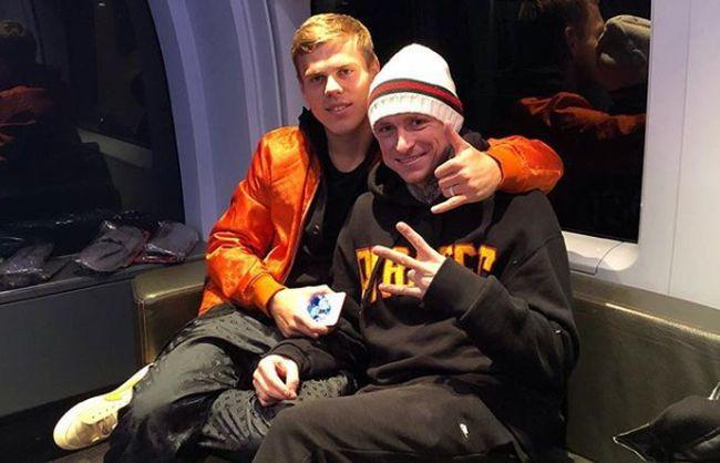 Олександр Кокорін і Павло Мамаєв були взяті під варту в жовтні минулого року / фото: instagram.com/kokorin9