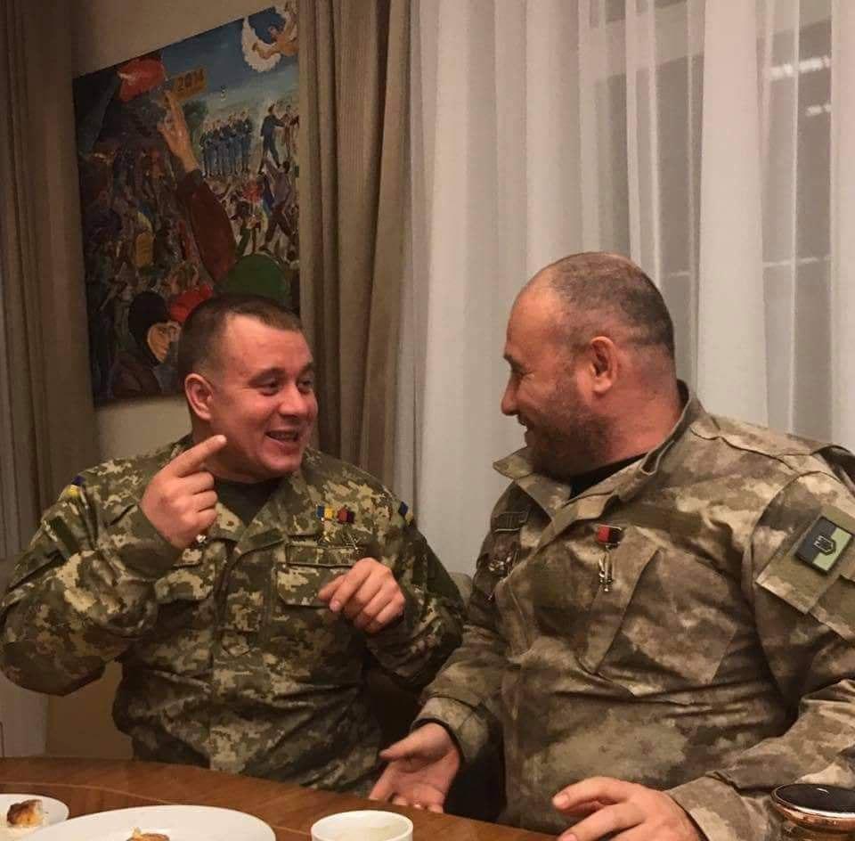 Евгений Межевикин (слева) с Дмитрием Ярошем / УНИАН