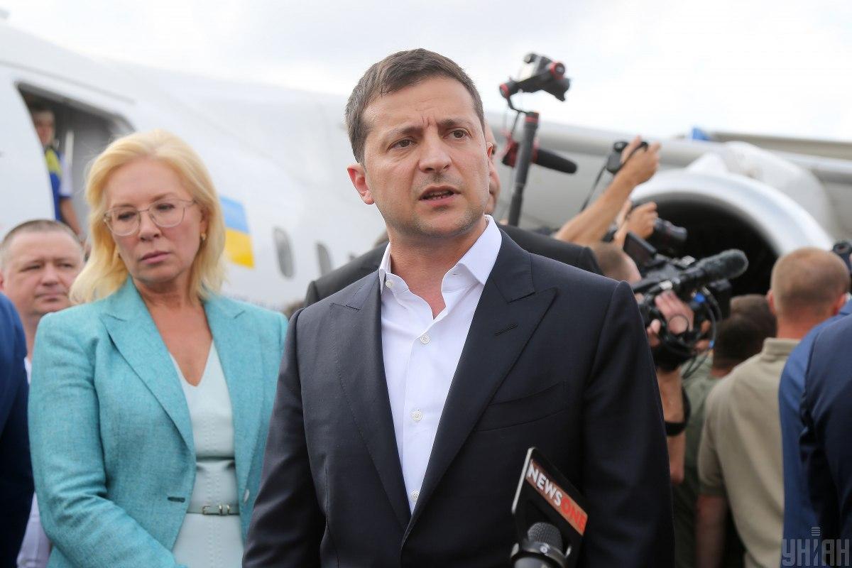 Зеленський заявив, що повернення до України з Росії моряків і політв'язнів буде першим кроком до звільнення всіх полонених / фото УНІАН