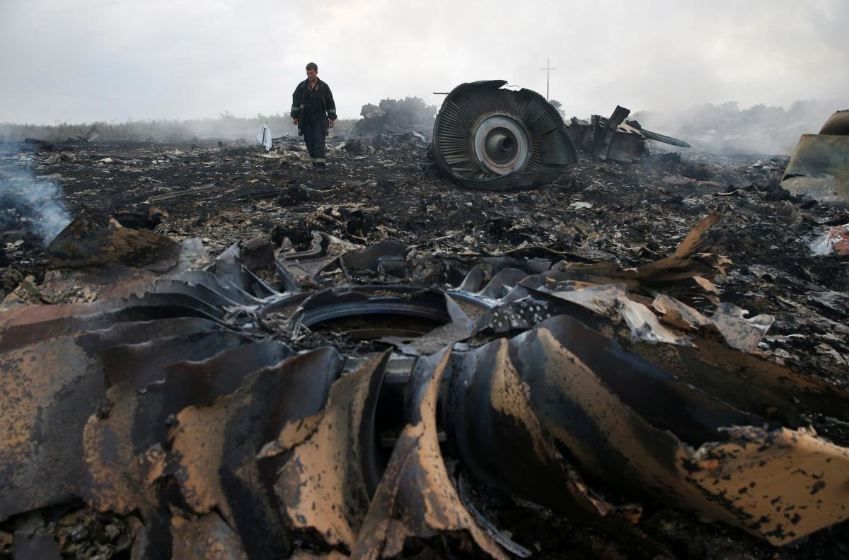 The crash site in Russia-occupied Donbas / REUTERS