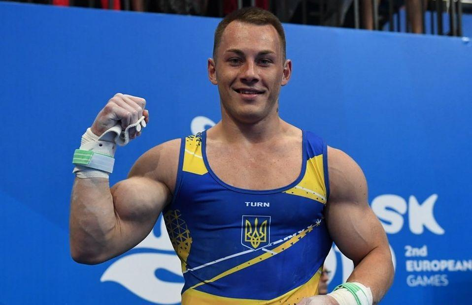 Игорь Радивилов выиграл золото в упражнениях на кольцах / фото: НОК Украины