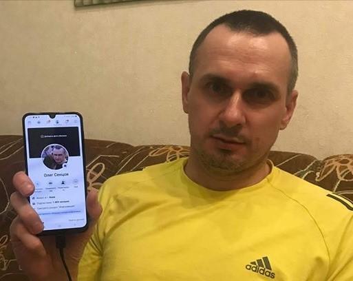 Сенцов показав свою сторінку в Facebook / фото facebook.com/oleg.sentsov