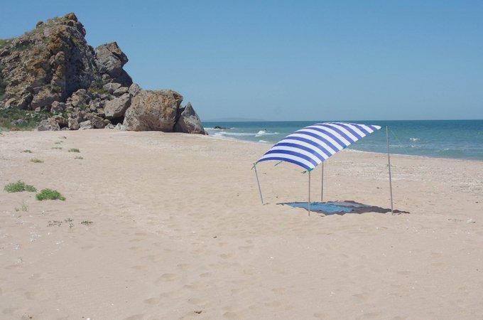 Пляж в Керчи / twitter.com/KrimRt