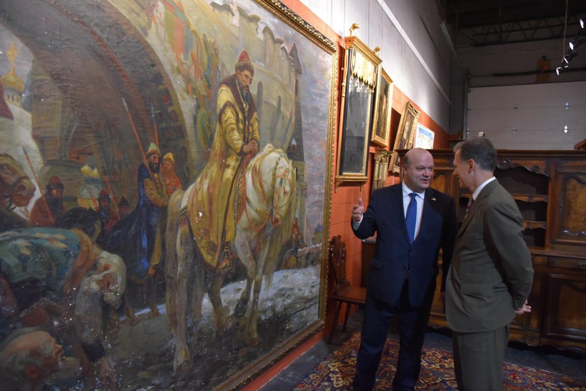 До України зі США повертається картина художника Михайла Паніна / фото facebook.com/ukr.embassy.usa